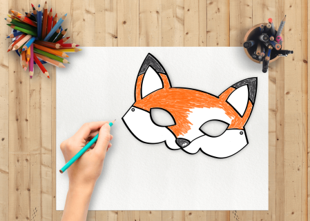 Fox Mask Printable