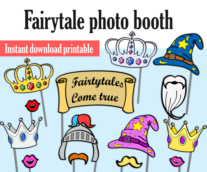 photo booth props fairytale
