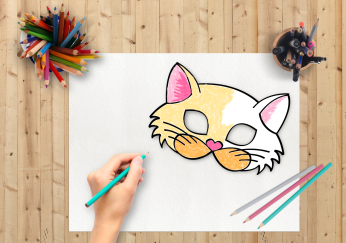 Cat Mask Coloring